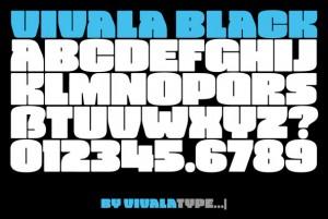 vivala black font style 2015