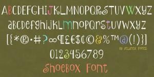 shoebox font style