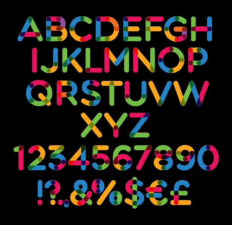 Font size color type